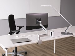 Supporto per monitor/TV orientabileMONITOR MOUNT WITH ARM - DESK CLAMP - DURABLE HUNKE & JOCHHEIM