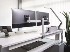 Supporto per doppio monitorMONITOR MOUNT FOR 2 SCREENS - DESK CLAMP - DURABLE HUNKE & JOCHHEIM