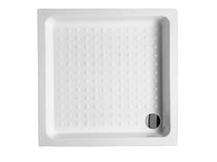Piatto doccia incassato quadrato in ceramica Piatto doccia quadrato - Piatti doccia