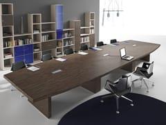 Tavolo da riunione in legno impiallacciato con sistema passacaviSTAR | Tavolo da riunione - ELITABLE