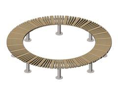 Panchina circolare in acciaio e legno senza schienaleSTAR   Panchina circolare - PUNTO DESIGN