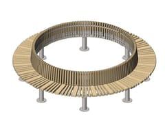 Panchina circolare in acciaio e legno con schienaleSTAR | Panchina circolare - PUNTO DESIGN