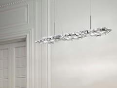 LAMPADA A SOSPENSIONE A LED IN METALLO CON CRISTALLISTARDUST | LAMPADA A SOSPENSIONE - MARCHETTI ILLUMINAZIONE