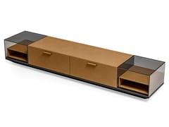 Mobile TV in cuoio e vetroSTARLIGHT | Mobile TV - CIAC-EXPORT