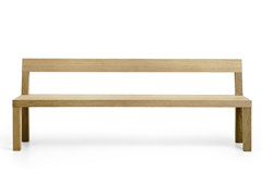 Panca in legno con schienale STATO   Panca con schienale - Stato