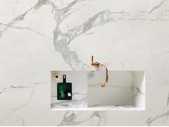 ITALSTONE, STATUARIO LUX Rivestimento antibatterico in gres porcellanato effetto marmo