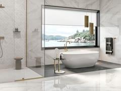 Revigrés, STATUARIO WHITE Pavimento/rivestimento in gres porcellanato effetto marmo