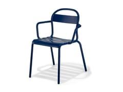 Sedia impilabile in lamiera con braccioliSTECCA 2 - CERANTOLA