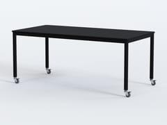 Tavolo rettangolare con ruote in acciaio e piano in MDFPIPE | Tavolo in MDF - GRADO DESIGN FURNITURES
