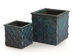 Vaso da giardino fatto a mano in terracottaSTELLA CUBE - PAOLELLI GARDEN