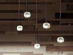 Lampada a sospensione a LED a luce diretta in cristalloSTELLINA | Lampada a sospensione - ALBUM ITALIA
