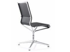 Sedia ufficio operativa girevole in pelle a 4 razze STICK CHAIR ATK 4-5 STAR BASE | Sedia ufficio operativa in pelle - Stick Chair