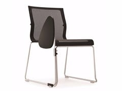 Sedia da conferenza a slitta con ribaltina STICK STK SKID BASE | Sedia da conferenza con ribaltina - Stick Chair
