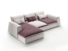 Divano sfoderabile in tessuto a 3 posti con chaise longue STING | Divano con chaise longue -