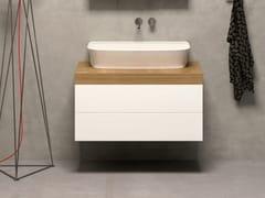 Mobile lavabo sospeso con cassetti STIVA | Mobile lavabo sospeso -