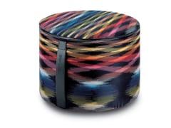 Pouf cilindro in tessuto STOCCARDA | Pouf - Poppies Flame Retardant