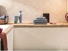 Rivestimento tridimensionale in ceramica a pasta bianca effetto pietraSTONE PLAN WALL JACQUARD BEIGE - ITALGRANITI