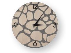 Orologio da parete in legno intarsiato STONES COLD | Orologio - DOLCEVITA NATURE