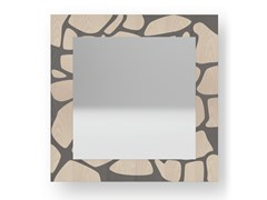Specchio quadrato da parete con cornice STONES COLD | Specchio - DOLCEVITA NATURE