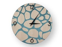 Orologio da parete in legno intarsiatoSTONES COLORS | Orologio - LEONARDO TRADE