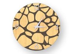 Orologio da parete in legno intarsiato STONES WARM | Orologio - DOLCEVITA NATURE