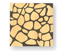 Quadro in legno intarsiato o stuccato STONES WARM - DOLCEVITA NATURE