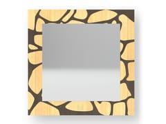 Specchio quadrato da parete con cornice STONES WARM | Specchio - DOLCEVITA NATURE