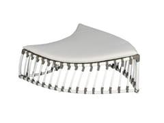 Sgabello / Poggiapiedi da giardino in alluminioFOGLIA | Sgabello - CBDESIGN