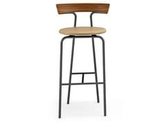 Sgabello alto in legno con poggiapiediT.CHAIR | Sgabello - CIDER