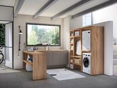 Mobile lavanderia in legno con ante a battenteSTORE 03 - GRUPPO GEROMIN