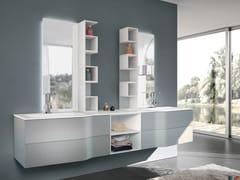 Mobile lavabo doppio sospeso con specchio STR8 105 - Str8