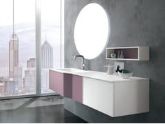 Mobile lavabo sospeso con cassetti STR8 110 - Str8