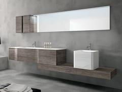 Mobile lavabo sospeso con cassetti con specchio STR8 112 - Str8