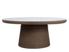Tavolo da giardino rotondo in JanusFiber® con top in vetroSTRADA | Tavolo rotondo - JANUS ET CIE