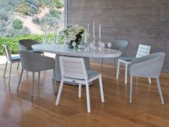 Tavolo da giardino ovale in JanusFiber® con top in marmoSTRADA | Tavolo - JANUS ET CIE