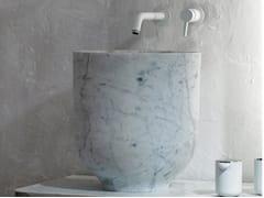 Lavabo da appoggio rotondo singolo in marmo ORIGIN | Lavabo in marmo - Origin
