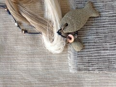 Tessuto double face in lino per tendeSTRAW - AGENA