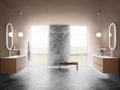 Mobile lavabo sospeso con lavabo integratoSTREET 05 - ARBI ARREDOBAGNO