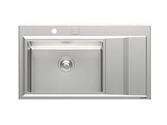 Lavello semi filo top in acciaio inox con gocciolatoioSTRIPE 1V50 DX/SX +SC SFT - FOSTER