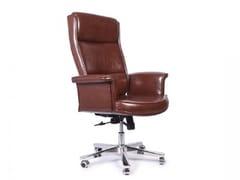 Poltrona ufficio direzionale girevole in ecopelle con schienale altoSTUDIO | Poltrona ufficio direzionale con schienale alto - ARREDIORG