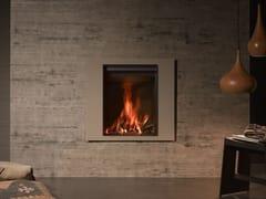Caminetto a legna a parete con vetro panoramico STÛV 22-70 A4 - Stûv 22