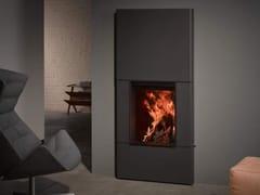 Caminetto a legna aperto in acciaio a parete STÛV 22-70 DS - Stûv 22