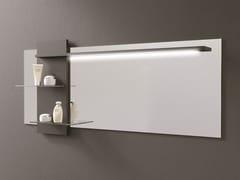 DDL, STYLE Specchio rettangolare con illuminazione integrata e mensola