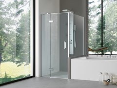 Box doccia angolare con porta a battente STYLÉ | Box doccia con porta a battente - Stylé