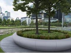 Bellitalia, SUA MAESTÀ Fioriera per spazi pubblici rotonda in pietra ricostruita