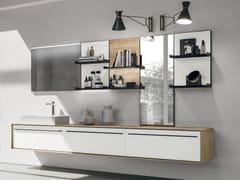 Mobile lavabo sospeso in legno con cassetti SUITE 03 - Suite