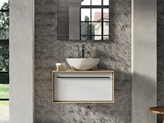 Mobile lavabo sospeso in legno SUITE 05 - Suite
