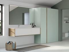 Mobile lavabo sospeso in legnoSUITE 06 - GRUPPO GEROMIN