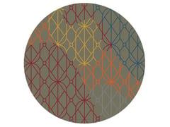 Tappeto rotondo Jacquard stampato a tessituraSUMMER DARK | Tappeto rotondo - MEMEDESIGN