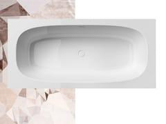 Vasca da bagno rettangolare in Solid SurfaceSUMMERTIME 185 - GRUPPO TRE S